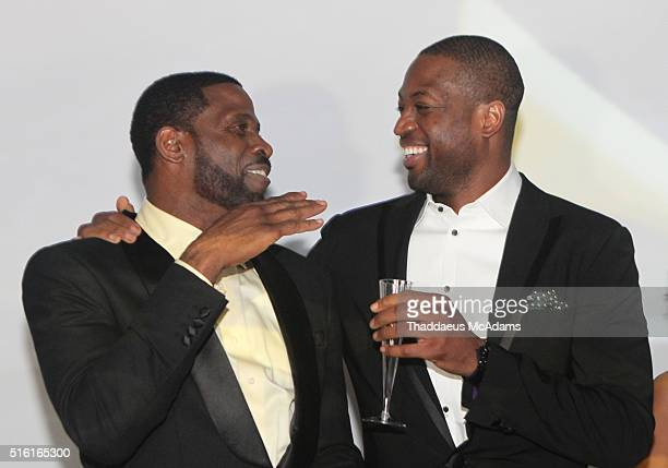 Dwyane Wade Sr and Dwyane Wade Jr attend the ProPops Foundations 10th Anniversary Fundraiser hosted by CEO and founder Dwyane Wade Sr and Dwyane Wade...