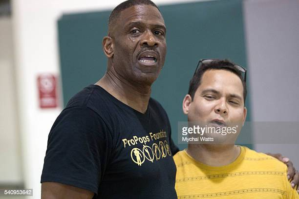 Dwyane Wade Sr and Jose Perez attend the Propops Foundation Fathers Day Weekend on June 18 2016 in Miami Florida