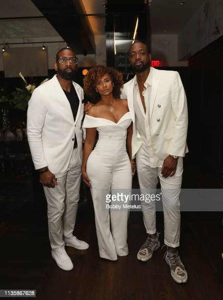 Dwyane Wade Sr Danielle Wade and Dwyane Wade attend Dwyane Wade's 16 Year NBA Career Celebration Dinner on April 8 2019 in Miami Florida
