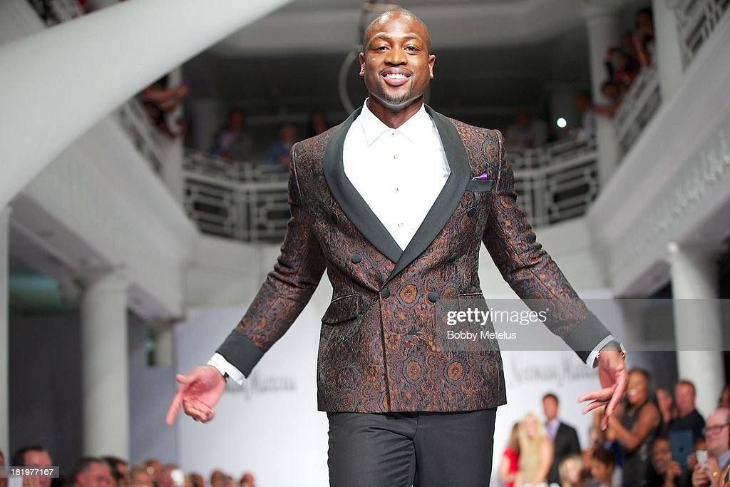Dwyane Wade walks the runway during NBA Champion and Miami Heat Dwyane Wade's Night On The RunWade to benefit Wade's World Foundation on September 26, 2013 in Miami, Florida.