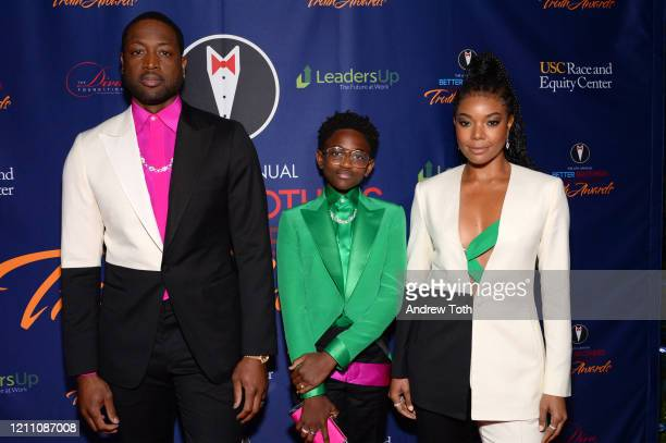 Dwyane Wade, Zaya Wade and Gabrielle Union attend the Better Brothers Los Angeles' 6th annual Truth Awards at Taglyan Complex on March 07, 2020 in...