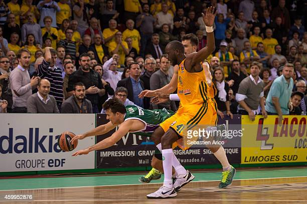 Dy BoungouColo #41 of Limoges CSP in action during the 20142015 Turkish Airlines Euroleague Basketball Regular Season Date 8 game between Limoges CSP...