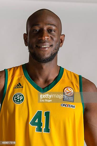 Dy BoungouColo #41 of Limoges CSP poses during the Limoges CSP 2014/2015 Turkish Airlines Euroleague Basketball Media Day at Beaublanc on September...