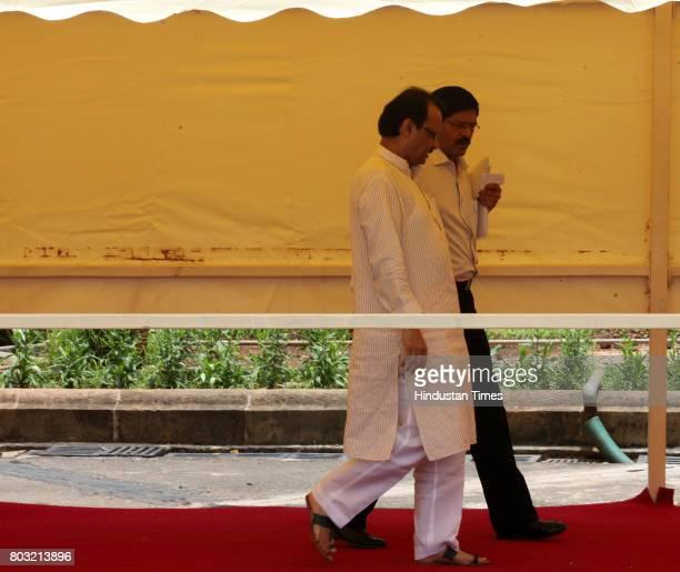 Dy CM Ajit Pawar at Vidhan Bhavan in Mumbai