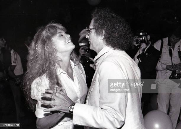Dyan Cannon and Jerry Schatzberg at the premiere party for Honeysuckle Rose at Studio 54 circa 1980 in New York