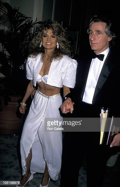 Dyan Cannon and Stanley Fimberg during The 45th Annual Golden Globe Awards at Beverly Hilton Hotel in Beverly Hills California United States
