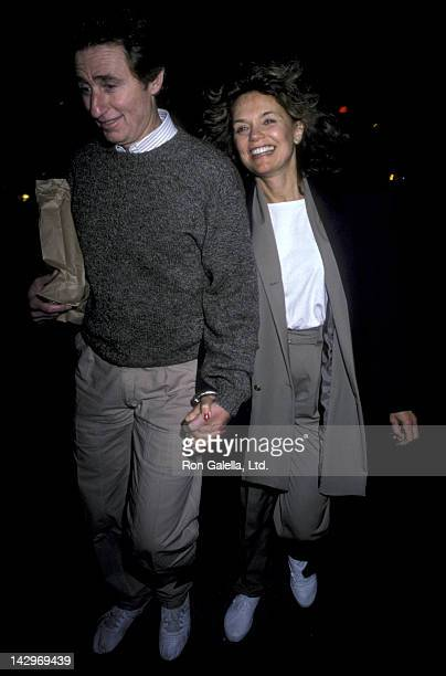 Dyan Cannon and Stanley Fimberg sighted on October 5 1986 at the Columbus Cafe in New York City
