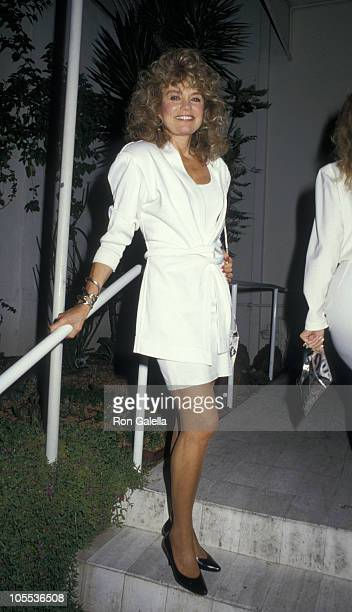 Dyan Cannon during Dyan Cannon Sighting at Spago's Restaurant in Hollywood May 22 1987 at Spago's Restaurant in Hollywood California United States