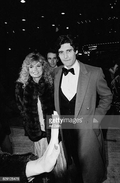 Dyan Cannon with Michael Nouri going to a formal event circa 1970 New York