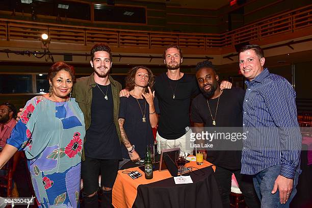 Dyana Williams Chris Mele Oliver Feighan Brett Mague Quincy Coleman and Jason Berger attend the Up Close Personal with Diplo Event hosted by The...