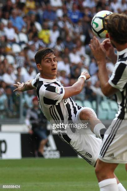 Dybala shoots the ball during the Serie A football match n1 JUVENTUS CAGLIARI on at the Allianz Stadium in Turin Italy