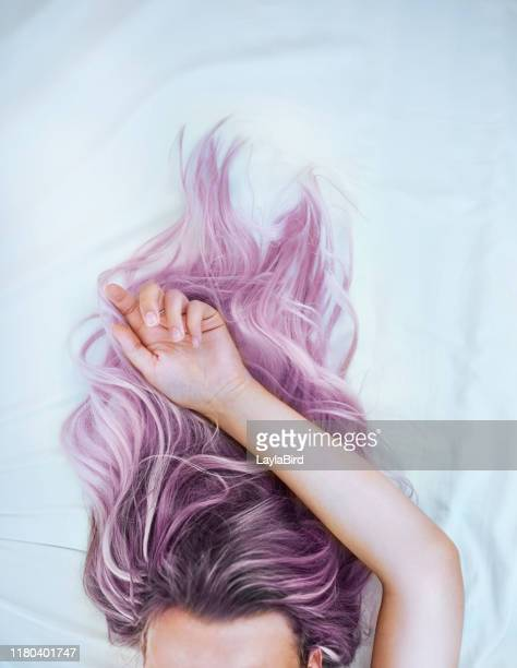 dye your hair and live with no regrets - dyed hair stock pictures, royalty-free photos & images