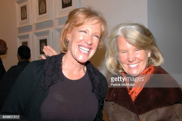 C Dyer and Sandy Henning attend RACHEL HOVNANIAN opening reception POWER BURDEN OF BEAUTY at Jason McCoy Gallery on November 5 2009 in New York City
