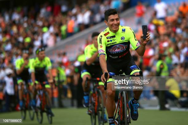 Dáyer Quintana of Colombia and Team Neri SottoliSelle ItaliaKtm / during the 2nd Tour of Colombia 2019 Team Presentation / Atanasio Girardot Stadium...