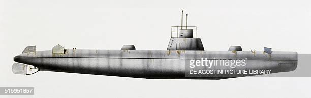 Dykkeren submarine Danimarca drawing