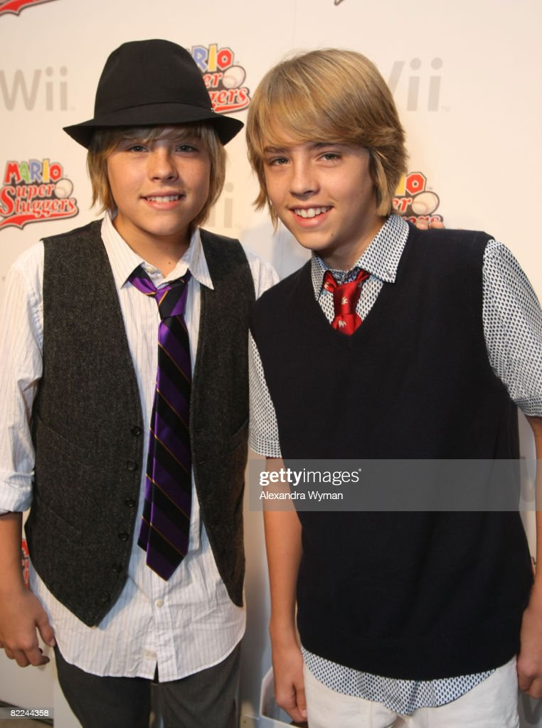 Cole and Dylan Sprouse Play Mario Super Sluggers At Their 16th Birthday Party : News Photo