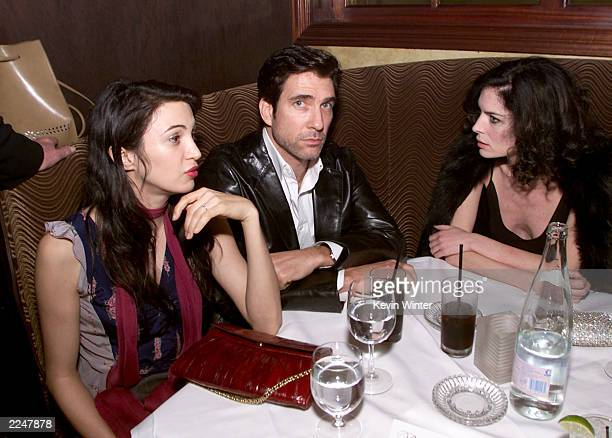 Dylan and Shiva McDermott and Lara Flynn Boyle at the postpremiere party for 'The Pledge' at The Sunset Room in Los Angeles Ca 01/09/01