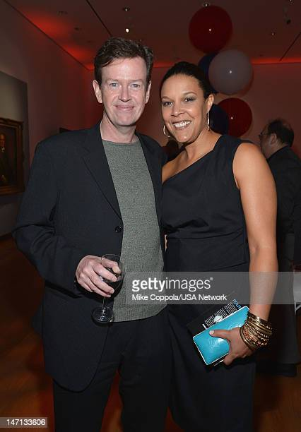 Dylan Baker and Linda Powell of Political Animals attend Political Animals Premiere Event at The Morgan Library Museum on June 25 2012 in New York...