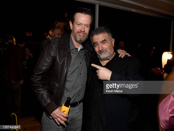 """Dylan Baker and Saul Rubinek attend the World Premiere Of Amazon Original """"Hunters"""" at DGA Theater on February 19, 2020 in Los Angeles, California."""