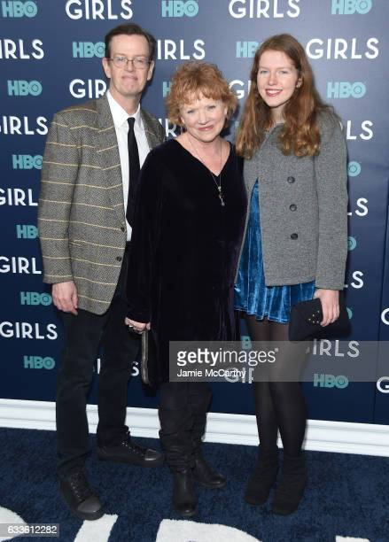 Dylan Baker Becky Ann Baker and Willa Baker attend The New York Premiere Of The Sixth Final Season Of Girls at Alice Tully Hall Lincoln Center on...