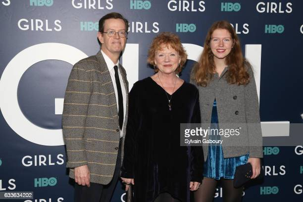 Dylan Baker Becky Ann Baker and Willa Baker attend The New York Premiere of the Sixth Final Season of Girls at Alice Tully Hall on February 2 2017 in...