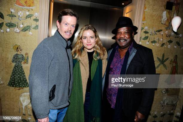 Dylan Baker Willa Fitzgerald and Isiah Whitlock Jr attend Roadside Attractions With The Cinema Society Host A Special Screening Of Ben Is Back at The...