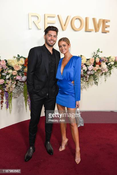 Dylan Barbour and Hannah Godwin attend 3rd Annual #REVOLVEawards at Goya Studios on November 15 2019 in Hollywood California