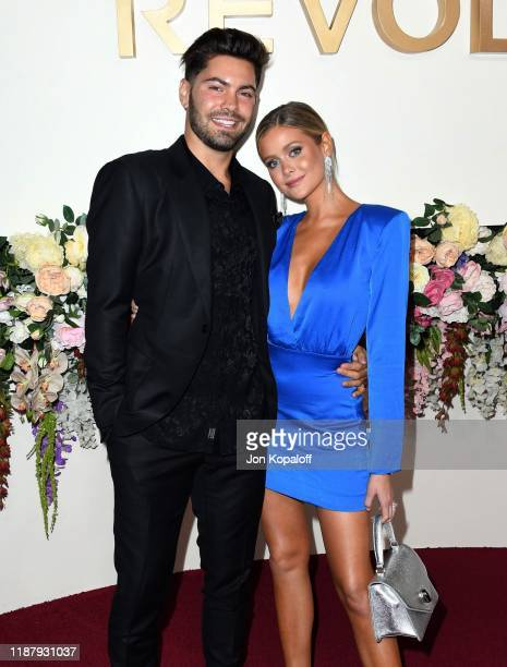 Dylan Barbour and Hannah Godwin attend the 3rd Annual #REVOLVEawards at Goya Studios on November 15 2019 in Hollywood California