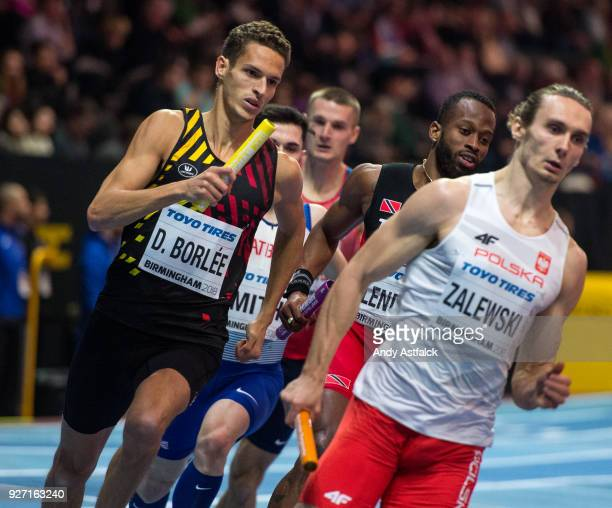 Dylan Borlee of Belgium during Men's 4x400m Final on Day 4 of the IAAF World Indoor Championships at Arena Birmingham on March 4 2018 in Birmingham...