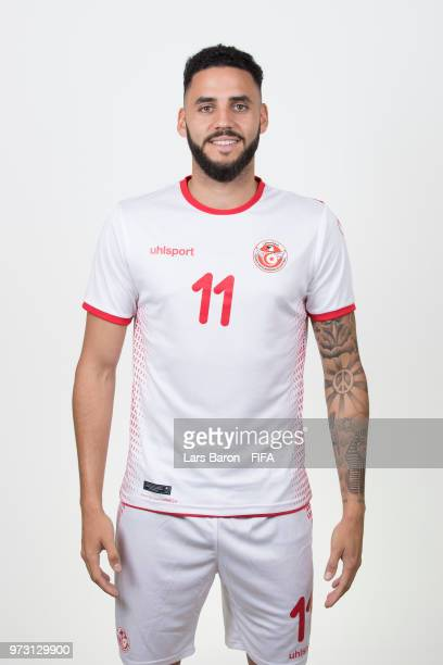 Dylan Bronn of Tunisa poses during the official FIFA World Cup 2018 portrait session on June 13 2018 in Moscow Russia