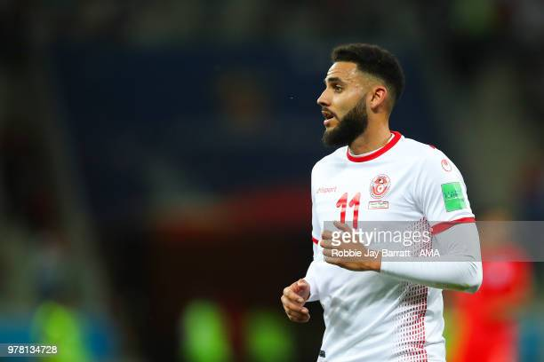 Dylan Bronn of Tunisia in action during the 2018 FIFA World Cup Russia group G match between Tunisia and England at Volgograd Arena on June 18 2018...