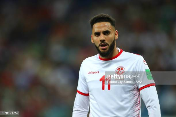 Dylan Bronn of Tunisia looks on during the 2018 FIFA World Cup Russia group G match between Tunisia and England at Volgograd Arena on June 18 2018 in...