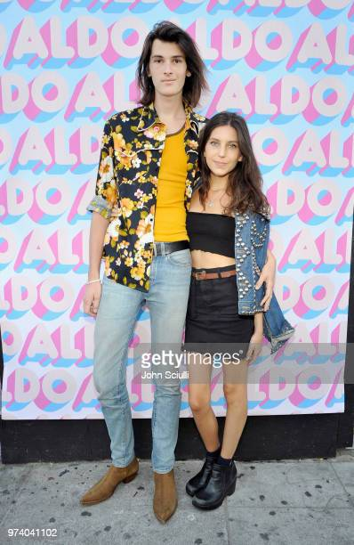 Dylan Brosnan and Avery Wheless attend the Aldo LA Nights 2018 at The Rose Room on June 13 2018 in Venice California
