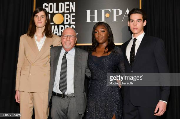 Dylan Brosnan Lorenzo Soria Isan Elba and Paris Brosnan attend the HFPA and THR Golden Globe Ambassador Party at Catch LA on November 14 2019 in West...