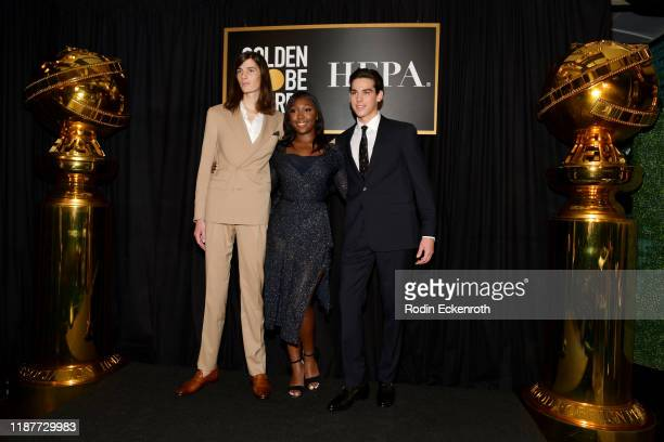 Dylan BrosnanIsan Elba and Paris Brosnan attend the HFPA And THR Golden Globe ambassador party at Catch LA on November 14 2019 in West Hollywood...
