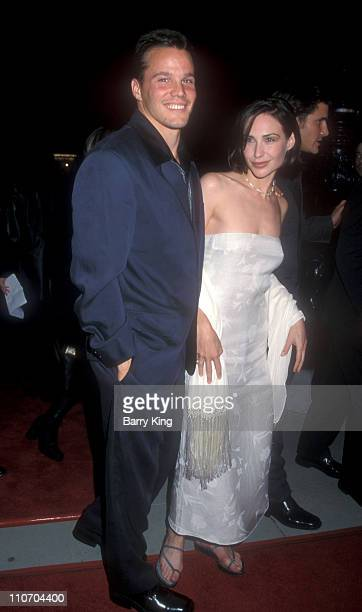 Dylan Bruno and Claire Forlani during 'Meet Joe Black' Beverly Hills Premiere at Academy Theater in Beverly Hills California United States