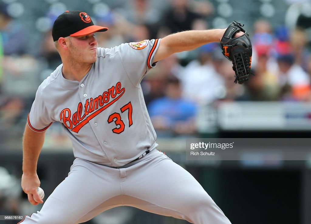 Dylan Bundy #37 of the Baltimore Orioles delivers a pitch against the New York Mets during the second inning of a game at Citi Field on June 6, 2018 in the Flushing neighborhood of the Queens borough of New York City. The Orioles defeated the Mets 1-0.