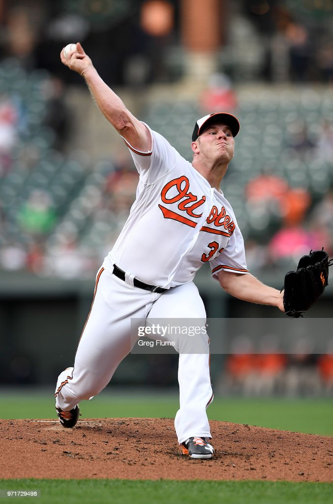 Dylan Bundy #37 of the Baltimore Orioles pitches in the second inning against the Boston Red Sox at Oriole Park at Camden Yards on June 11, 2018 in Baltimore, Maryland.