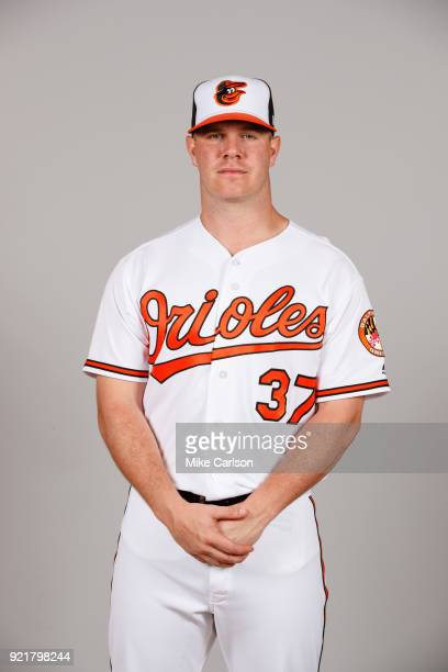 Dylan Bundy of the Baltimore Orioles poses during Photo Day on Tuesday February 20 2018 at Ed Smith Stadium in Sarasota Florida