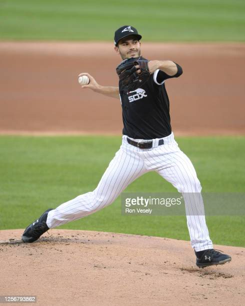 Dylan Cease of the Chicago White Sox pitches during a summer workout intrasquad game as part of Major League Baseball Spring Training 2.0 on July 16,...