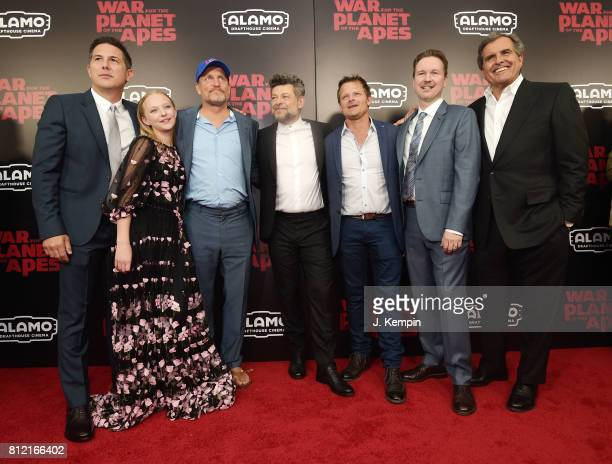 """Dylan Clark, Amiah Miller, Woody Harrelson, Andy Serkis, Steve Zahn, Matt Reeves and Peter Chernin attend """"War for the Planet Of The Apes"""" premiere..."""