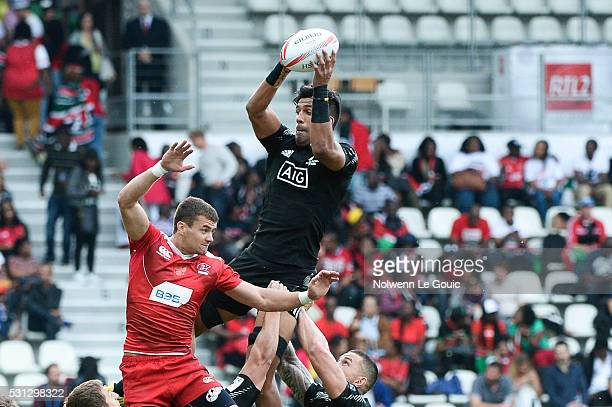 Dylan Collier of New Zealand during the match between New Zealand and Russia during the HSBC PARIS SEVENS tournament at Stade Jean Bouin on May 13...