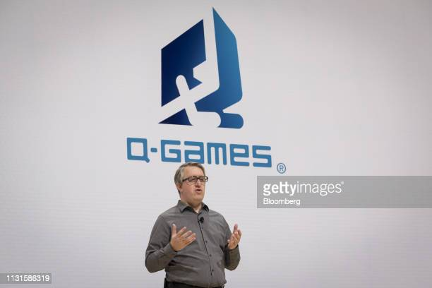 Dylan Cuthbert founder of Q Games speaks during a Google event at the Game Developers Conference in San Francisco California US on Tuesday March 19...