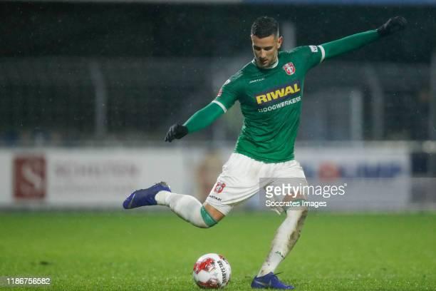 Dylan de Braal of FC Dordrecht during the Dutch Keuken Kampioen Divisie match between FC Dordrecht v SC Cambuur at the Riwal Hoogwerkers Stadium on...