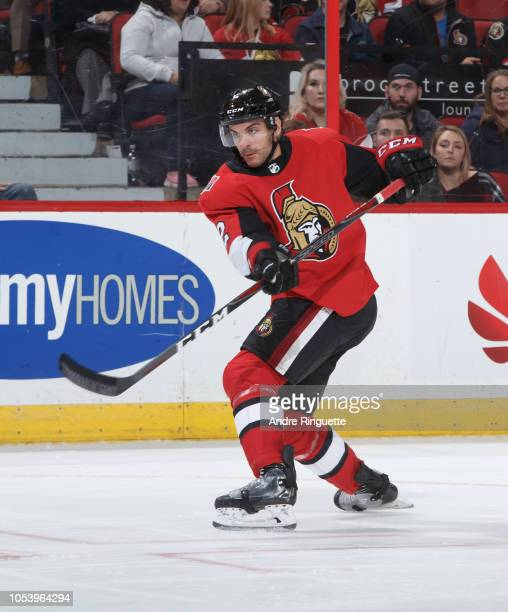 Dylan DeMelo of the Ottawa Senators skates against the Philadelphia Flyers at Canadian Tire Centre on October 10 2018 in Ottawa Ontario Canada