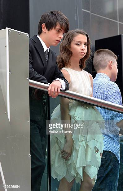 Dylan Douglas and Carys Douglas as they attend the European Premiere of Marvel's AntMan at the Odeon Leicester Square on July 8 2015 in London England