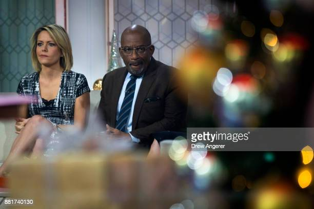 Dylan Dreyer and Al Roker look on before starting a segment on the set of NBC's Today Show November 29 2017 in New York City It was announced on...