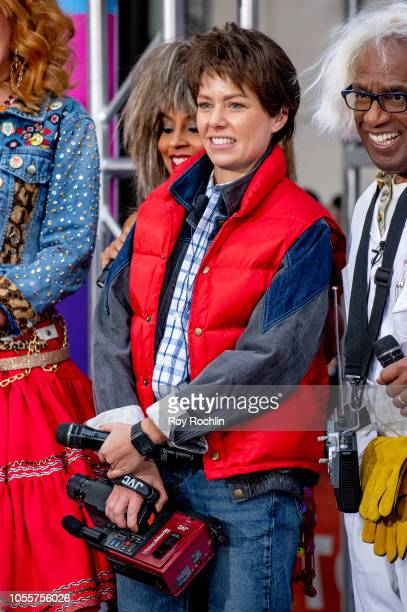 Dylan Dreyer as Marty McFly from Back to The Future during NBC Today Halloween 2018 show at Rockefeller Plaza on October 31 2018 in New York City