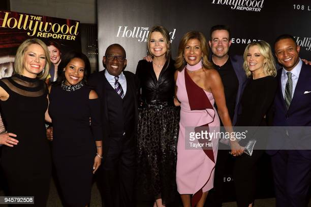 Dylan Dreyer Sheinelle Jones Al Roker Savannah Guthrie Hoda Kotb Carson Daly Megyn Kelly and Craig Melvin attend the Hollywood Reporter's Most...