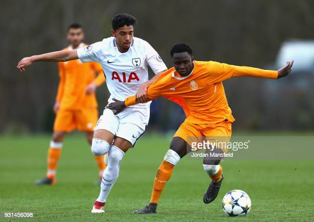 Dylan Duncan of Tottenham Hotspur and Madi Queta of FC Porto in action during the UEFA Youth League group H match between Tottenham Hotspur and FC...